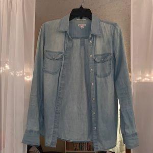 Merona Chambray Shirt Size Small